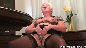 British grannies want you with regard to watch as they masturbate