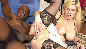 pierced milf ass fucked by a black being cock