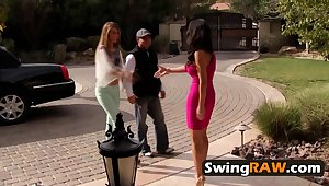 Join the fun with an increment of lusty Swinger Mansion