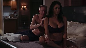 Gorgeous milf Reagan Foxx gets fucked plus jizzed by horny suitor