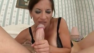 Rousing Mommy Melissa Monet Fucks Young Cock