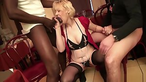 French Adult Christiana Gangbanged In Stockings