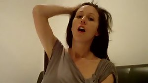 Naughty webcam MILF is indeed happy to milk her own big boobies
