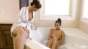Erotic lesbian sex between mature Syren De Mer and Gianna Dior