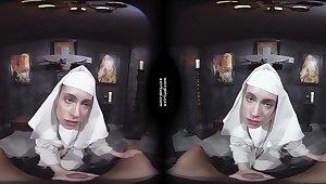 Damned Nun - Virtual reality porn video