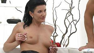 Wild making out alongside unaffected tits brunette phase Celine Noiret