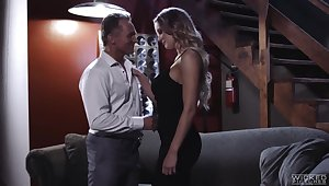 Talkative flirty hottie Kenzie Taylor cannot succeed in enough from fucking sideways
