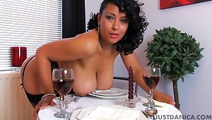 Naughty wife Danica Collins loves fingering her pussy vanguard diner