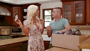 Busty MILF Brittany Andrews masturbates coupled with gets fucked good